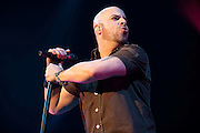 Photos of American Idol finalist Chris Daughtry performing at the Chaifetz Arena in St. Louis on April 6, 2010.