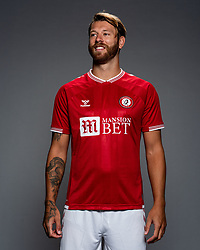 Nathan Baker as Bristol City release their Home Shirt ahead of the 2020/21 Sky Bet Championship Season season - Rogan/JMP - 31/08/2020 - Ashton Gate Stadium - Bristol, England - Sky Bet Championship.