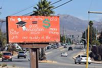 On N. Sanborn Rd. in Salinas' east side, billboards to inspire.