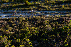 Jennie Stenerhag and Esther Suss of team Meerendal CBC during stage 1 of the 2017 Absa Cape Epic Mountain Bike stage race held from Hermanus High School in Hermanus, South Africa on the 20th March 2017<br /> <br /> Photo by Greg Beadle/Cape Epic/SPORTZPICS<br /> <br /> PLEASE ENSURE THE APPROPRIATE CREDIT IS GIVEN TO THE PHOTOGRAPHER AND SPORTZPICS ALONG WITH THE ABSA CAPE EPIC<br /> <br /> ace2016