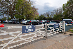 © Licensed to London News Pictures. 01/05/2021. London, UK. An exterior view of The Bear on the Barge pub carpark gates. Police were called at 01:18 BST on Saturday 01/05/2021 to reports of a collision at Moorhall Road, Uxbridge. Officers and London Ambulance Service attended. At the scene a car had collided with a group of pedestrians in the carpark of a public house. Two people were taken to hospital for treatment to injuries that were not life threatening. Photo credit: Peter Manning/LNP