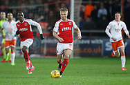 Kyle Dempsey of Fleetwood Town during the EFL Sky Bet League 1 match between Fleetwood Town and Blackpool at the Highbury Stadium, Fleetwood, England on 25 November 2017. Photo by Paul Thompson.