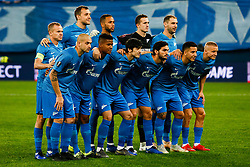 February 21, 2019 - Saint Petersburg, Russia - FC Zenit Saint Petersburg players pose for a photo during the UEFA Europa League Round of 32 second leg match between FC Zenit Saint Petersburg and Fenerbahce SK on February 21, 2019 at Saint Petersburg Stadium in Saint Petersburg, Russia. (Credit Image: © Mike Kireev/NurPhoto via ZUMA Press)