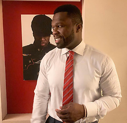 "50 Cent releases a photo on Twitter with the following caption: """"Here we go it's 2019 I'm on my grind no time for sucker shit so much to get done. #lecheminduroi #bellator"""". Photo Credit: Twitter *** No USA Distribution *** For Editorial Use Only *** Not to be Published in Books or Photo Books ***  Please note: Fees charged by the agency are for the agency's services only, and do not, nor are they intended to, convey to the user any ownership of Copyright or License in the material. The agency does not claim any ownership including but not limited to Copyright or License in the attached material. By publishing this material you expressly agree to indemnify and to hold the agency and its directors, shareholders and employees harmless from any loss, claims, damages, demands, expenses (including legal fees), or any causes of action or allegation against the agency arising out of or connected in any way with publication of the material."