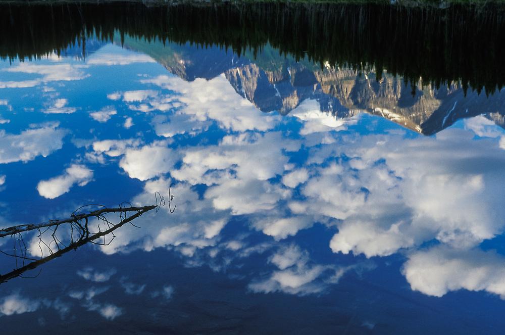 Morning reflection, autumn, Banff National Park, Alberta, Canada
