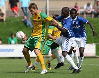 Photo: Maarten Straetemans.<br /> AGOVV Apeldoorn v Norwich City. Pre Season Friendly. 21/07/2007.<br /> David Strihavka (left)