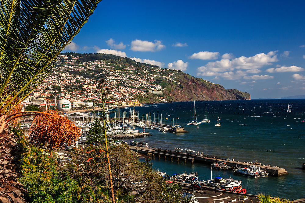 Yacht harbor in Funchal, Madeira.