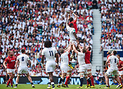 Wales' Toby Faletau beats Englands's Courtney Lawes to a line out during the The Old Mutual Wealth Cup match England -V- Wales at Twickenham Stadium, London, Greater London, England on Sunday, May 29, 2016. (Steve Flynn/Image of Sport)