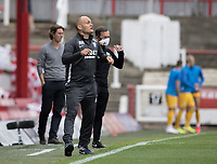 Preston North End's manager Alex Neil coaches his side <br /> <br /> Photographer Andrew Kearns/CameraSport<br /> <br /> The EFL Sky Bet Championship - Brentford v Preston North End - Wednesday 15th July 2020 - Griffin Park - Brentford <br /> <br /> World Copyright © 2020 CameraSport. All rights reserved. 43 Linden Ave. Countesthorpe. Leicester. England. LE8 5PG - Tel: +44 (0) 116 277 4147 - admin@camerasport.com - www.camerasport.com
