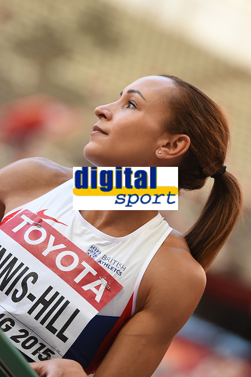 Jessica Ennis-Hill (GBR) competes on Women's 100 m Hurdles - Heptathlon during the IAAF World Championships, Beijing 2015, at the National Stadium, in Beijing, China, Day 1, on August 22, 2015 - Photo Stephane Kempinaire / KMSP / DPPI