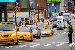02-11-2018 USA: NYC Marathon We Run 2 Change Diabetes day 1, New York<br /> The day to get up for your number at the Expo / Agent, taxi, yellow cab