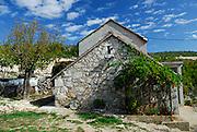 Traditional stone house with grapevine, Rascane, Croatia