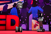 Host Chris Anderson speaks with David Deutsch at TED2019: Bigger Than Us. April 15 - 19, 2019, Vancouver, BC, Canada. Photo: Bret Hartman / TED