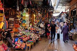 Street scene in a souk in the medina in Marrakech, Morocco, North Africa<br /> <br /> (c) Andrew Wilson | Edinburgh Elite media