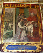Detail from the Vatican Museums, an immense collection of classical, renaissance masterpieces etc. Founded in the early 16th century by Pope Julius II they are considered to be some of the world's greatest museums. This image shows a portion of the beautifully painted walls.