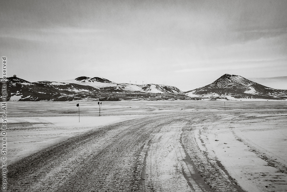 Ice Road on McMurdo Sound back to McMurdo Station