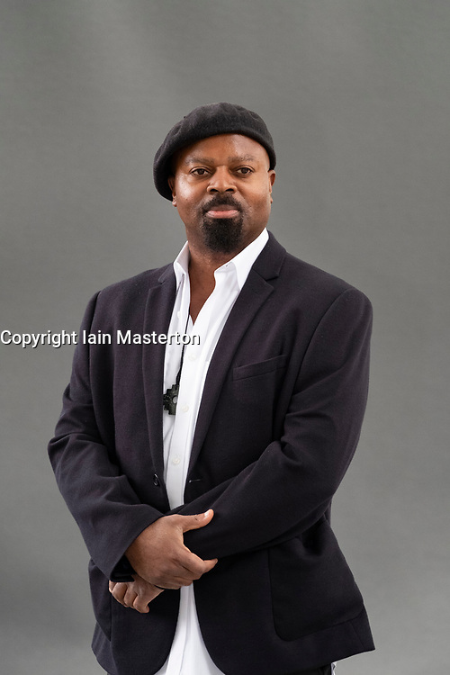 "Edinburgh, Scotland, UK; 17 August, 2018. Pictured; Ben Okri. In his book  ""The Magic Lamp"" , Okri has collaborated with painter Rosemary Clunie to create a collection of twenty-five haunting stories , each accompanied by a dreamlike painting."