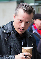 London, October 29 2017. American country singer Jason Isbell outside the BBC in London after appearing on the Andrew Marr Show to promote his new album The Nashville Sound. © Paul Davey