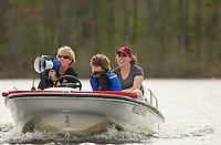 St Paul's School Crew on Turkey Pond.    Karen Bobotas Photographer