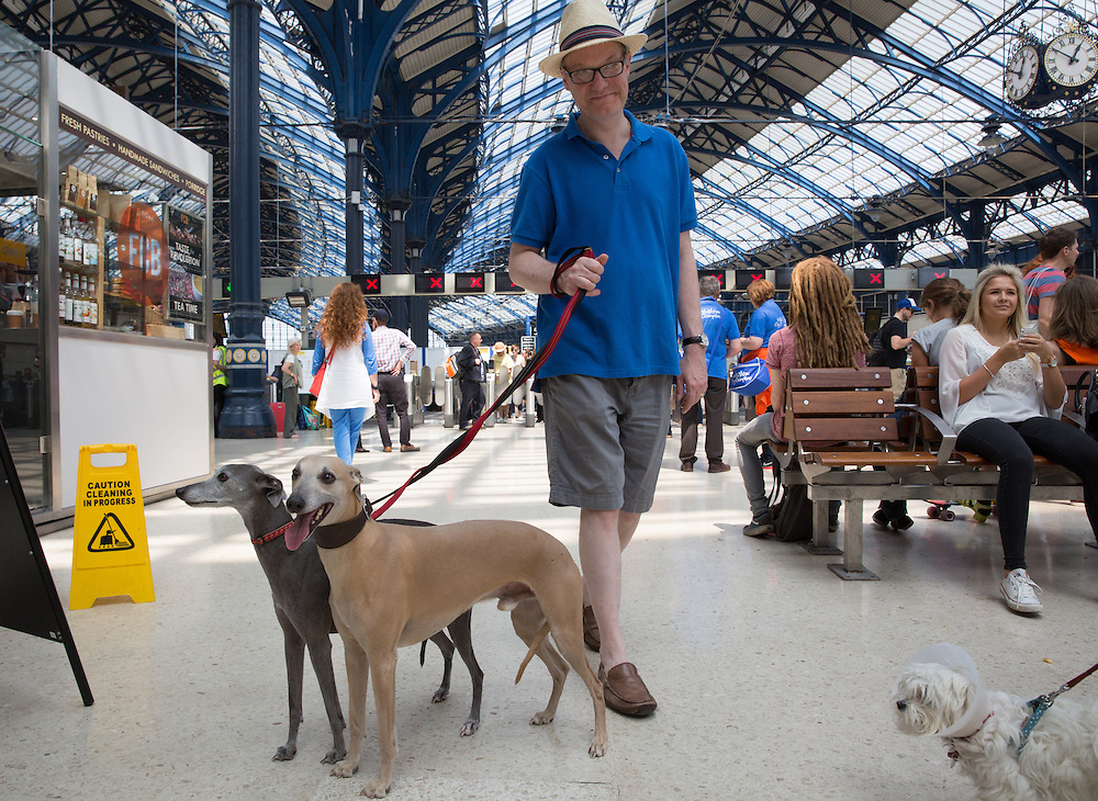 Last Autumn the number of ticket gates at the station was doubled to cope with a sharp increase in footfall. In 2012/13 over 16 million people passed through the Victorian building, that's a 30% increase over 6 years ago. No statistics were available for accompanying pets.