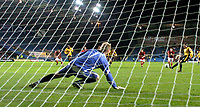 Photo: Alan Crowhurst.<br />Oxford United v Eastbourne Borough. The FA Cup.<br />16/11/2005. Oxford's Steve Basham gets his hatrick from the penalty spot.