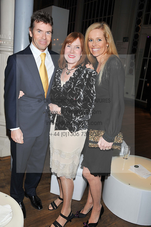 Left to right, PAUL STEWART, LADY STEWART and VICTORIA STEWART at the Motor Sport magazine's 2013 Hall of Fame awards at The Royal Opera House, London on 25th February 2013.