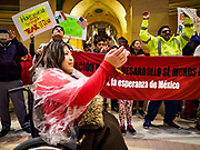 01 MAY 2017 - ST. PAUL, MN: A May Day immigrants' rights demonstration in the rotunda of the Minnesota State Capitol. About 300 people, representing immigrants' and workers' rights organizations, marched through the Minnesota State Capitol during a demonstration to mark May Day, International Workers' Day.      PHOTO BY JACK KURTZ