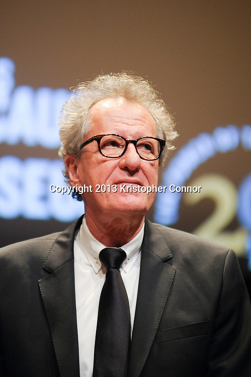"""WASHINGTON, DC - NOVEMBER 7: Actor Geoffery Rush attends  the premiere of """"The Book Thief,"""" sponsored by the US Holocaust Museum at the United States Holocaust Memorial Museum on November 7, 2013 in Washington, DC. (Photo by Kris Connor/20th Century Fox)"""
