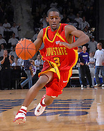 Iowa State guard Corey McIntosh drives up court in the first half against Kansas State at Bramlage Coliseum in Manhattan, Kansas, February 17, 2007.  K-State defeated Iowa State 65-47.