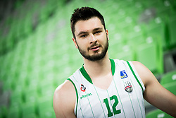 Nikola Jankovic #12 of KK Union Olimpija during basketball match between KK Union Olimpija and KK Helios Suns in Round 8 of Nova KBM 2016/17 Champions League, on March 29, 2017 in Arena Stozice, Ljubljana, Slovenia. Photo by Vid Ponikvar / Sportida