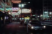 NW Broadway looking south at West Burnside. Jones Photo. Broadway Hotel.