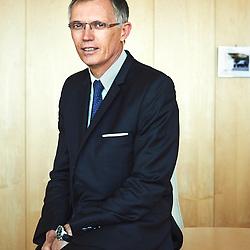 Paris, France. July 28, 2014. Carlos Tavares, PSA/Peugeot-Citroen's CEO in his office. Photo : Antoine Doyen