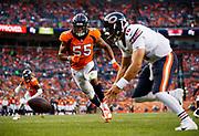 during an NFL preseason football game , Saturday, Aug. 18, 2018, in Denver. The XXX defeated the XXX, XX-XX. (Ryan Kang/NFL)