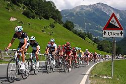 05.07.2011, AUT, 63. OESTERREICH RUNDFAHRT, 3. ETAPPE, Kitzbühel-Lienz, im Bild das Pelteton der Verfolger beim Anstieg nach Virgen/ Mitteldorf // during the 63rd Tour of Austria, Stage 3, 2011/07/05, EXPA Pictures © 2011, PhotoCredit: EXPA/ P. Gruber
