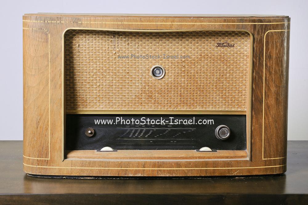 Cutout of a retro kimori radio receiver on white background