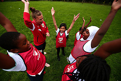 Bristol Sport and Bristol Energy launch their partnership at Millpond School with help from Yana Daniels of Bristol City Women - Mandatory by-line: Robbie Stephenson/JMP - 09/10/2017 - SPORT - Millpond School - Bristol, England - Bristol Sport and Bristol Energy Partnership Launch