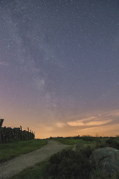 The milky way above the Peak District.