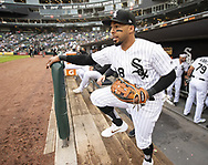 CHICAGO - MAY 16:  Leury Garcia #28 of the Chicago White Sox takes the field against the Toronto Blue Jays on May 16, 2019 at Guaranteed Rate Field in Chicago, Illinois.  (Photo by Ron Vesely)  Subject:  Leury Garcia
