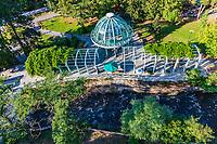 Borjomi , Georgia - August 12, 2019 : Borjomi Mineral Water Park landmark of the thermal city Samtskhe Javakheti region Georgia eastern Europe