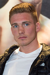 © Licensed to London News Pictures. 24/03/2016. CHRIS BLACKWELL attends a press conference for his fight against CHRIS EUBANK JR at SSE Arena Wembley on Saturday 26th March 2016. London, UK. Photo credit: Ray Tang/LNP