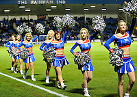 Gillingham cheerleaders before the game against Preston North End<br /> <br /> Photographer Ashley Western/CameraSport<br /> <br /> Football - The Football League Sky Bet League One - Gillingham v Preston North End - Tuesday 21st October 2014 - MEMS Priestfield Stadium - Gillingham<br /> <br /> © CameraSport - 43 Linden Ave. Countesthorpe. Leicester. England. LE8 5PG - Tel: +44 (0) 116 277 4147 - admin@camerasport.com - www.camerasport.com