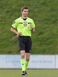 Dommer Lasse Læbel Graagaard under kampen i 1. Division mellem FC Fredericia og FC Helsingør den 4. oktober 2020 på Monjasa Park i Fredericia (Foto: Claus Birch).