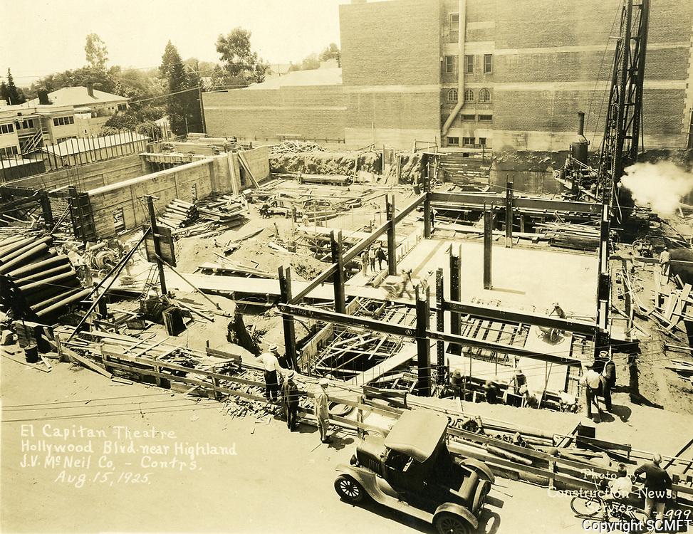 8/15/1925 Construction of the El Capitan Theater