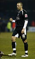 Photo: Chris Ratcliffe.<br /> Colchester United v Swansea City. LDV Vans Trophy. 14/03/2006.<br /> Lee Trundle of Swansea celebrates winning at the end
