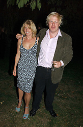 RACHEL JOHNSON and her brother BORIS JOHNSON MP  at a party to celebrate the publication of Notting Hell by Rachel Johnson held in the gardens of 1 Rosmead Road, London W11 on 4th September 2006.<br /><br />NON EXCLUSIVE - WORLD RIGHTS