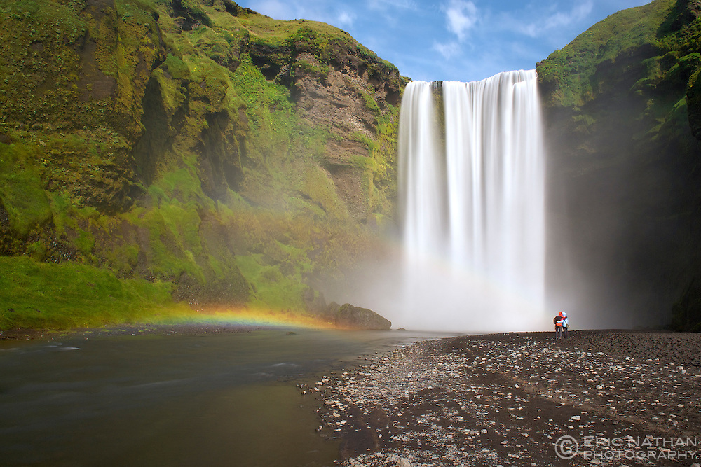 Skogar waterfall in southwest Iceland.