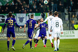 Rudi Pozeg Vancas of NK Maribor and Eric Boakye of NK Olimpija during football match between NK Maribor and NK Olimpija Ljubljana in Round #21 of Prva liga Telekom Slovenije 2019/20, 22 February, 2020 in Ljudski vrt, Maribor, Slovenia. Photo By Grega Valancic / Sportida