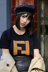 Fashionista Jolie Nguyen (@jolienguyennofficial) outside the BFC Show Space during London Fashion Week.