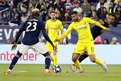 May 15, 2019 - Foxborough, MA, U.S. - FOXBOROUGH, MA - MAY 15: Chelsea FC midfielder Ruben Loftus-Cheek (12) takes on New England Revolution midfielder Wilfried Zahibo (23) during the Final Whistle on Hate match between the New England Revolution and Chelsea Football Club on May 15, 2019, at Gillette Stadium in Foxborough, Massachusetts. (Photo by Fred Kfoury III/Icon Sportswire) (Credit Image: © Fred Kfoury Iii/Icon SMI via ZUMA Press)
