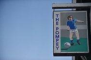 The Pompey sign outside Fratton Park during the EFL Sky Bet League 1 match between Portsmouth and Blackpool at Fratton Park, Portsmouth, England on 24 February 2018. Picture by Adam Rivers.
